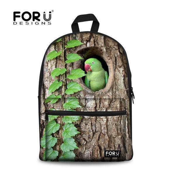 High Brand Children School Bags For Teenagers Girls Casual Birds Print Sac a Dos Students Boys Schoolbag Mochila Kids Book Bag свитшот print bar flower birds