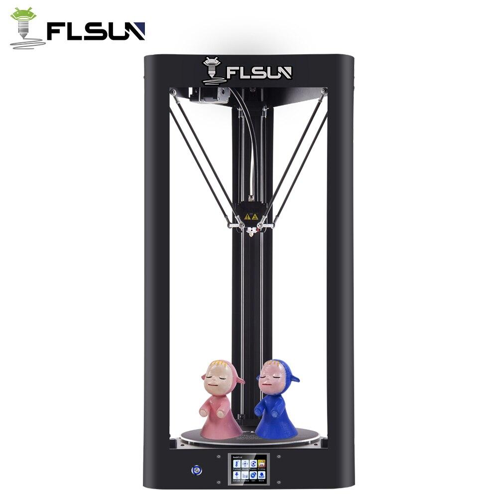 Atualize a impressora 3d flsun QQ-S pré-montada delta kossel tela de toque módulo wifi grande tamanho de impressão 255*255*360mm