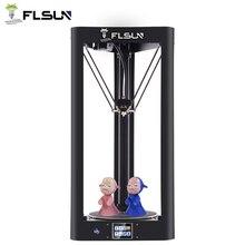 Обновление 3d принтера Flsun QQ стеклянная пластина предварительно собранная Delta Kossel сенсорный экран Wifi модуль большой размер печати 260*260*370 мм