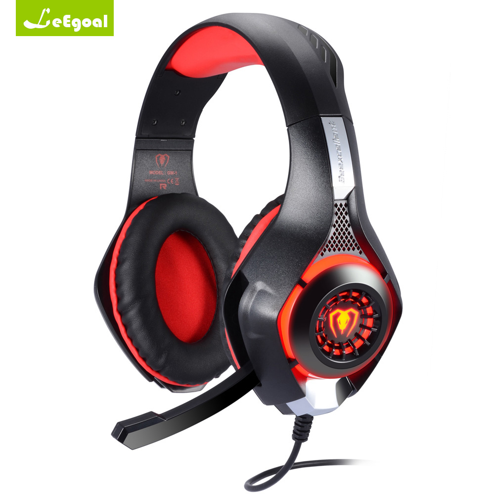 Beexcellent GM-1 Esport Gaming Headset Stereo Bass Headphone Earphone Over Ear 3.5mm with Microphone LED Light Noise Reduction ovann x17 gaming stereo bass headset headphone earphone over ear 3 5mm