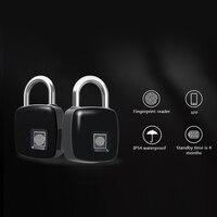Smart Fingerprint Padlock Bluetooth Keyless Anti Theft Fingerprint Lock for Suitcase Locker LCC77