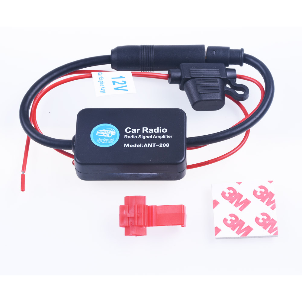 2017 12v car radio signal amplifier ant 208 auto antenna booster free shipping best selling