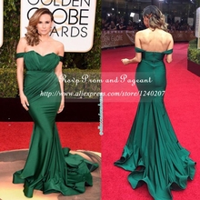 Formal Emerald Green Prom Dresses Pleat Sweetheart Neck Cap Sleeve Stretch Satin Long Mermaid Prom Dress 2017