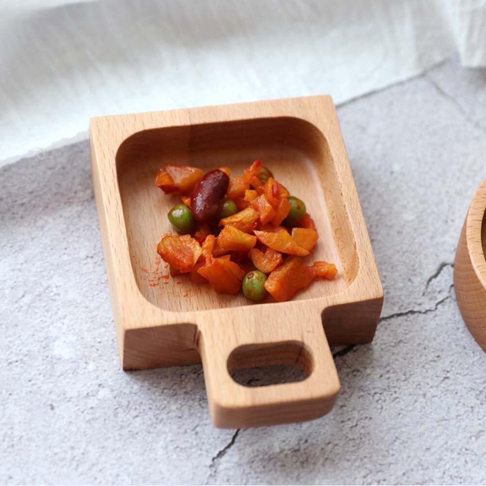 Rectangle Wood Plates Dishes Food Fruit Tea Dessert Dinner Wooden Plate