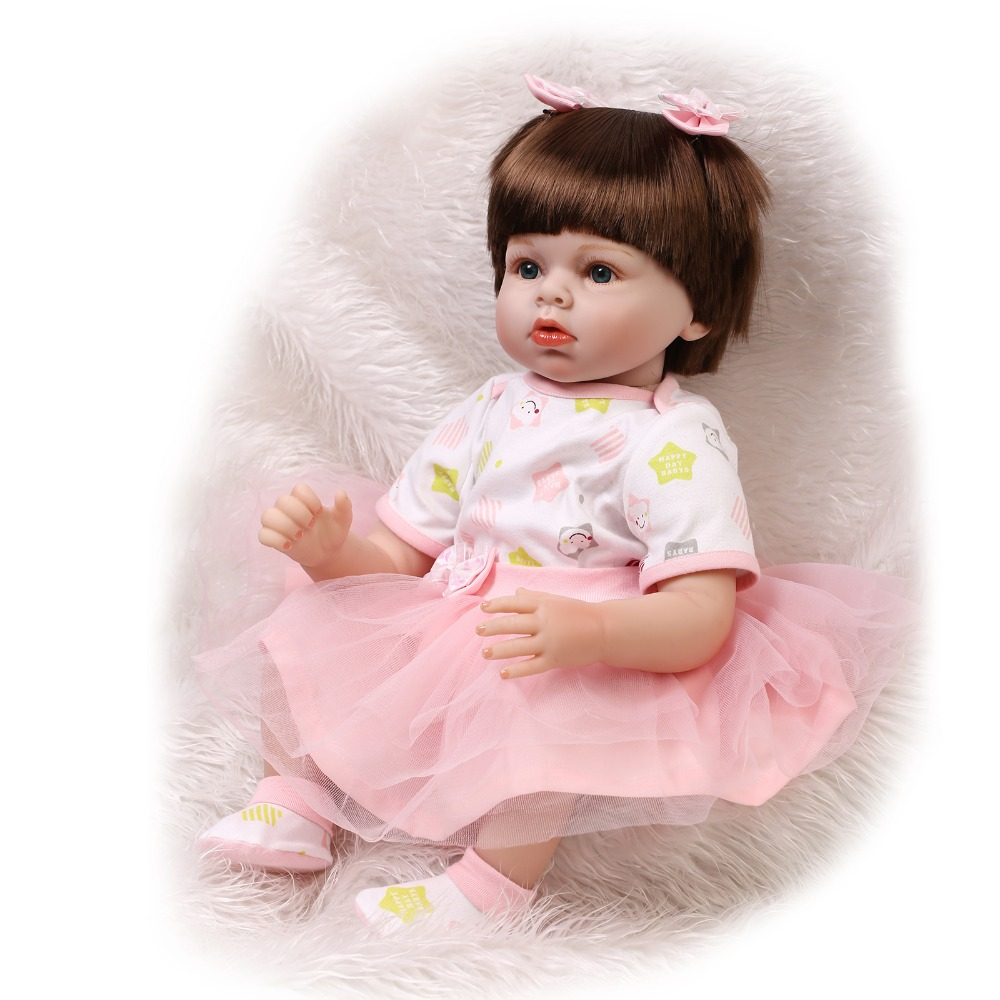 22inch 55cm reborn baby doll silicone vinyl soft real touch lifelike newborn baby Christmas presents to baby girls 22inch 55cm reborn baby doll silicone vinyl soft real touch with soft mohair lifelike newborn baby christmas gift baby alive