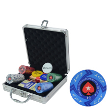 100-500PCS Bulk Order Customize Denomination EPT PokerStars Ceramic Material Texas Holdem Poker Chips Set