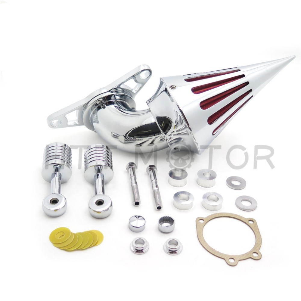 Aftermarket free shipping Air Cleaner filter for Harley Davidson Softail Fat Boy Dyna Street Bob Wide Glide Chrome free shipping chrome diamond shift linkage for harley davidson softail fxdwg flhr flt flht page 1