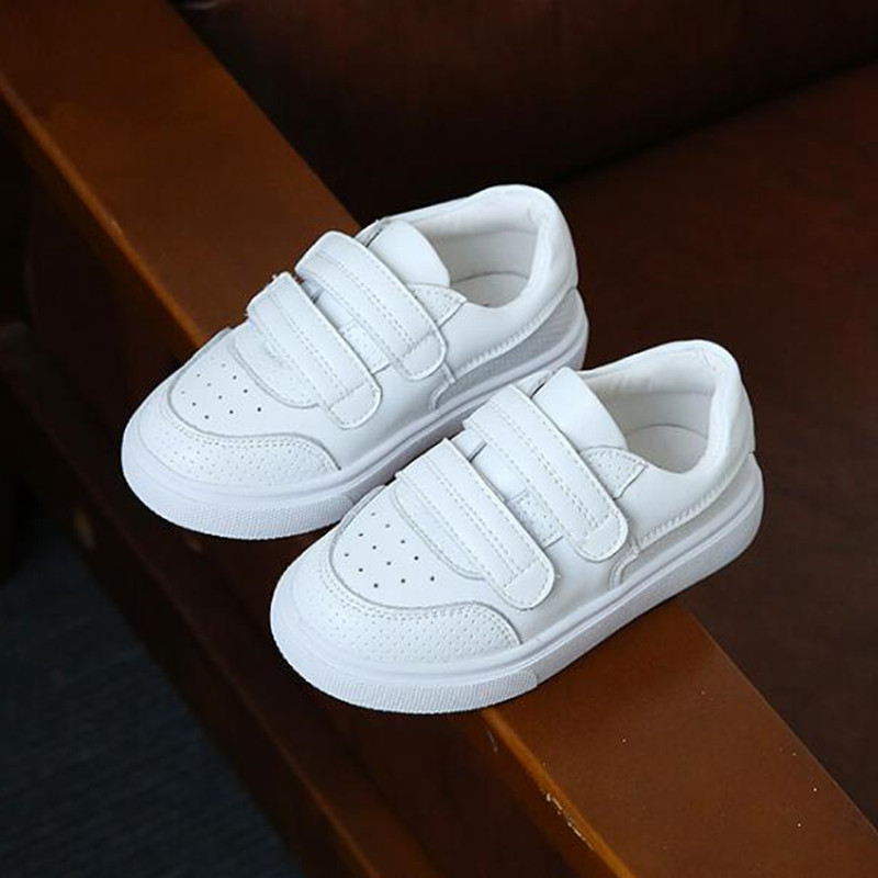 Fashion Children Sneakers Genuine leather Breathable Casual shoes Spring Autumn Boys Girls White shoes Kids Flats Loafers 04 asumer white spring autumn women shoes round toe ladies genuine leather flats shoes casual sneakers single shoes