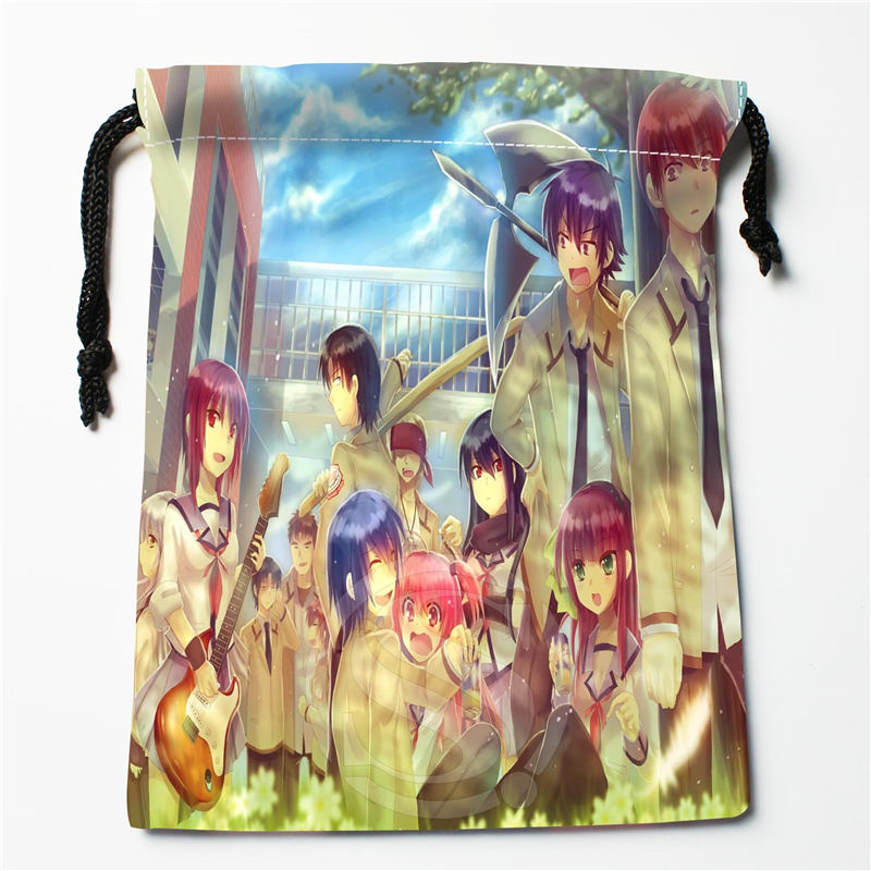 W-133 New Angel Beats #6 Custom Logo Printed  Receive Bag  Bag Compression Type Drawstring Bags Size 18X22cm E801EX133