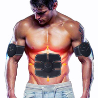 Protable Electric Abdominal Muscle Trainer Body Massage Fit Home Fitness Exercise Abdominal Muscles Loss Slimming Belt
