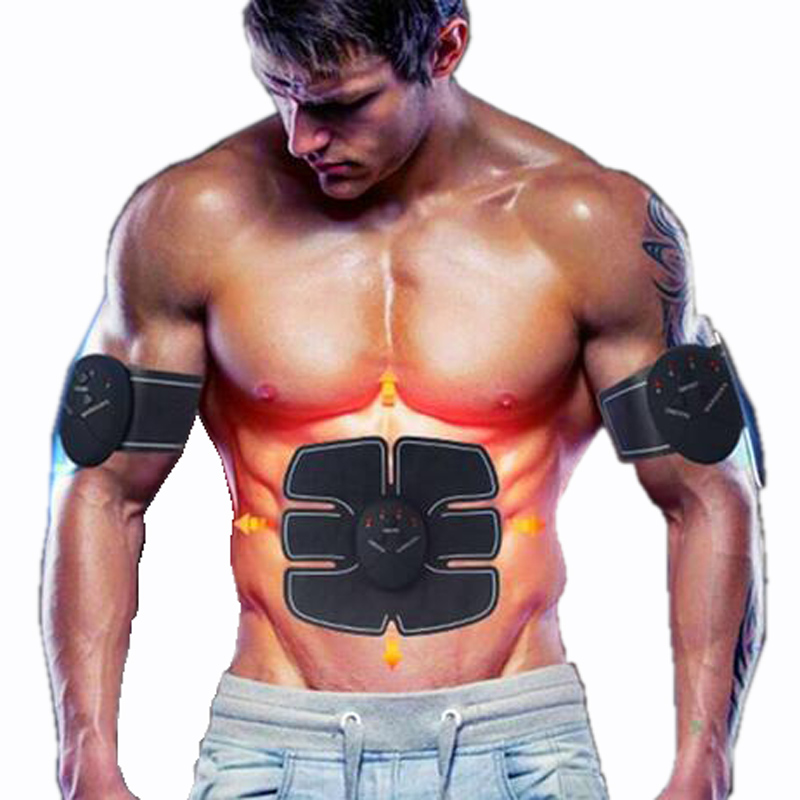 Protable Electric Abdominal muscle Trainer Body Massage Fit Home Fitness exercise abdominal muscles Loss Slimming Belt Massager electronic massage belt body shaping machine electric fitness massager