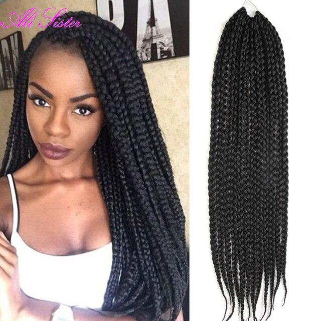 wholesale soft box braids hair extension braiding hair crochet braids box  braids senegalese twist hair synthetic hair extensions 4011383d4803