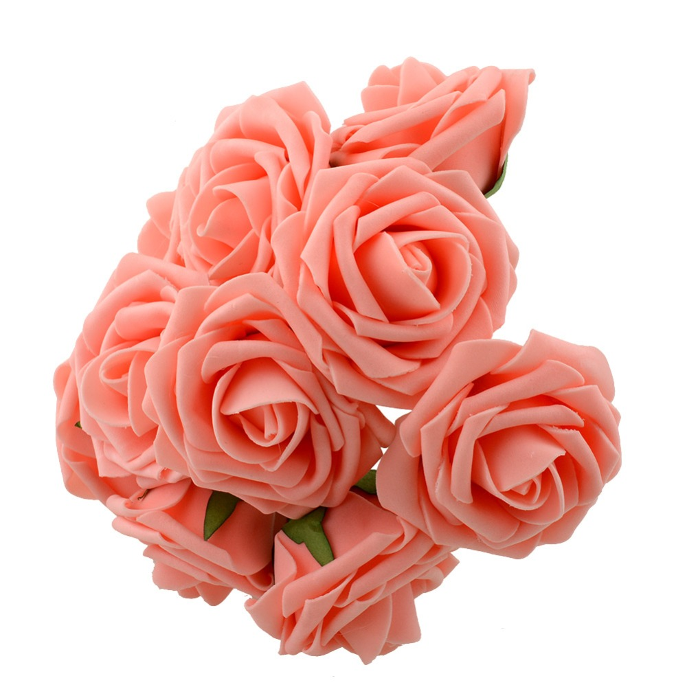 Pretty Charming 10 Heads Lovely Cute Artificial Rose Flower Wedding ...