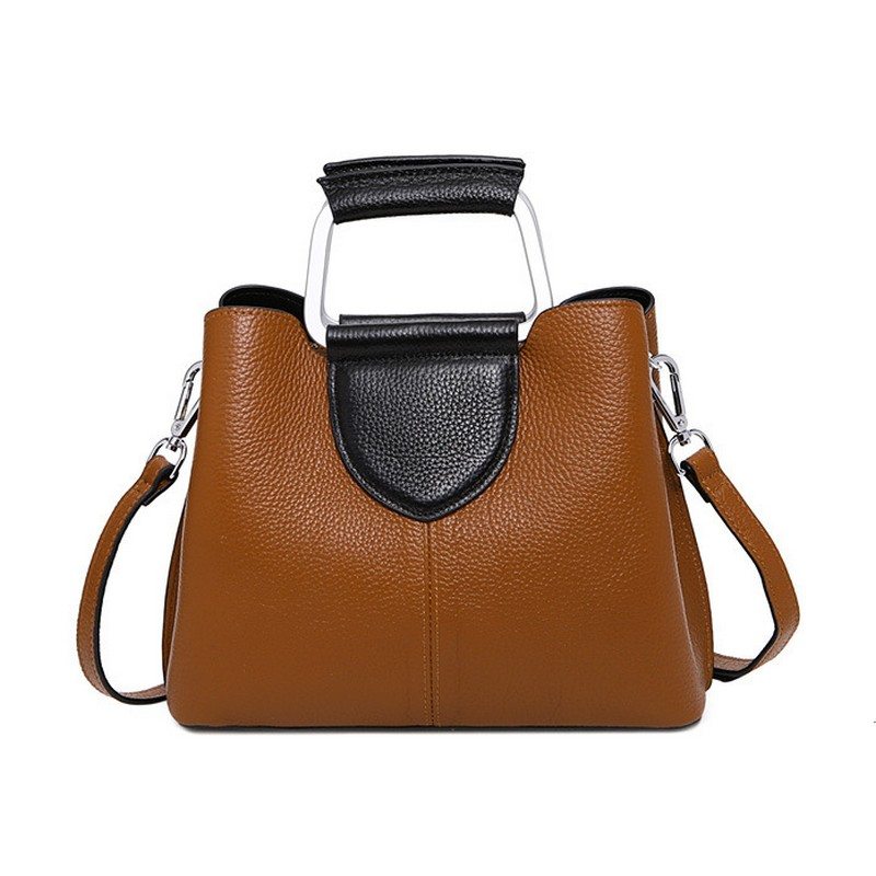 Newest Patchwork Leather Tote Bag Luxury Women Shoulder bags Fashion Women Bag Handbag Bolsa Feminina ring Bags