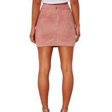 FREE SHIPPING Lace Up Leather Suede Split Mini Skirt JKP914