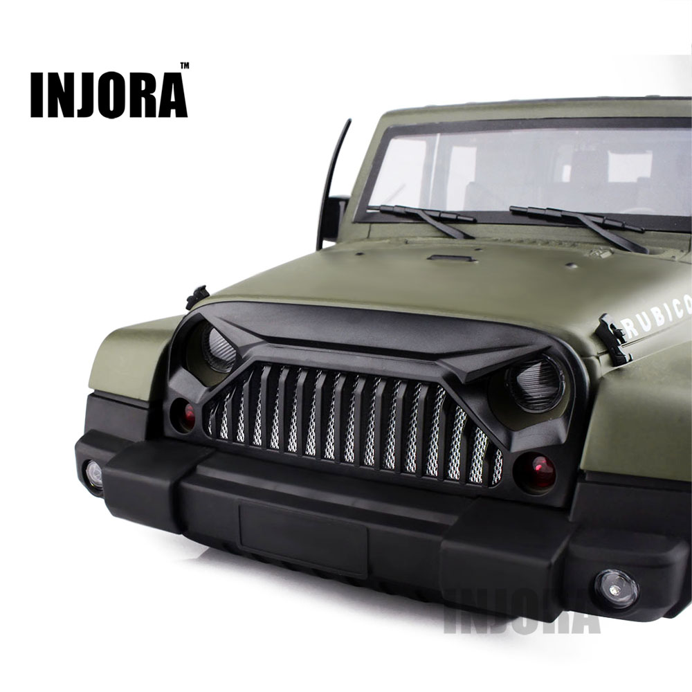 RC Car Air Inlet Grille Front Face with Metal Mesh for 1/10 RC Rock Crawler Axial SCX10 D90 Jeep Wrangler Rubicon Body Shell rc car xtra speed 1 10 nylon angry eyes grill body for 1 10 scale models jeep wrangler body xs 59758 scx10 jeep climbing cars
