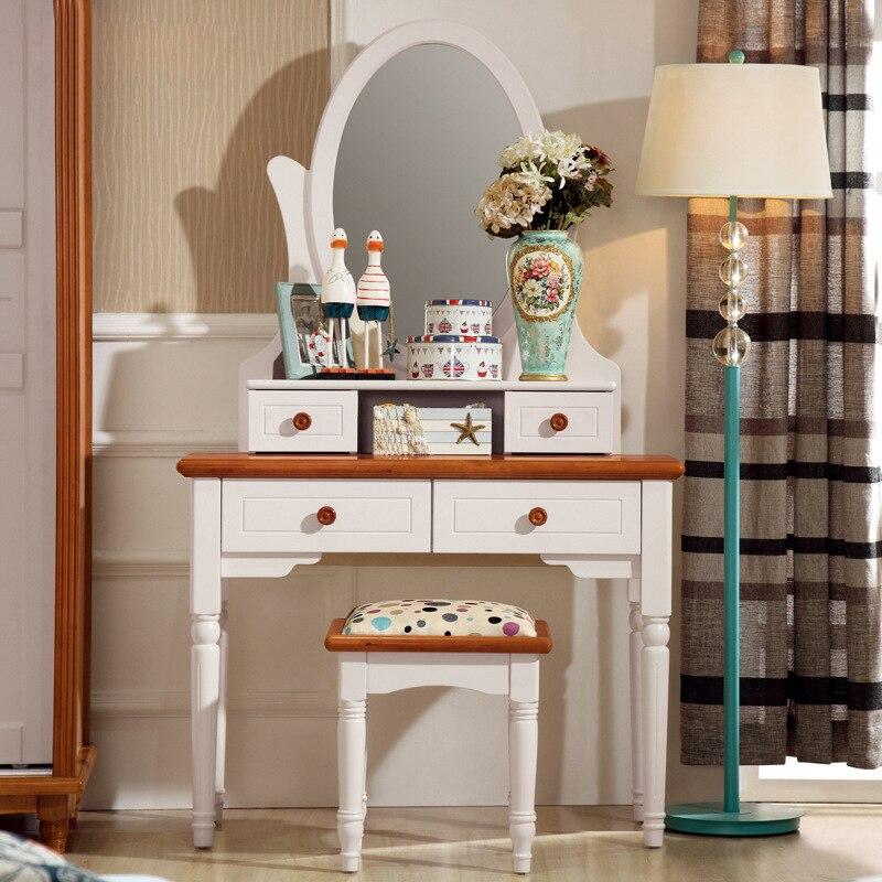 El espejo del mediterr neo el blanco espejo de maquillaje - Muebles para habitacion pequena ...