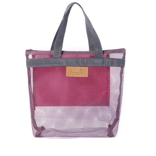 1 pc femmes voyage grand sac cosmétique ensemble maquillage maille sacs de toilette unisexe fermeture éclair lavage organisateur Portable pochette sac