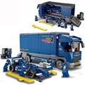 Sluban 0357 641 Pcs Truck F1 Racing Car Model Figure Building Blocks Figure Classic Brick Education Toys compatible With Legoe