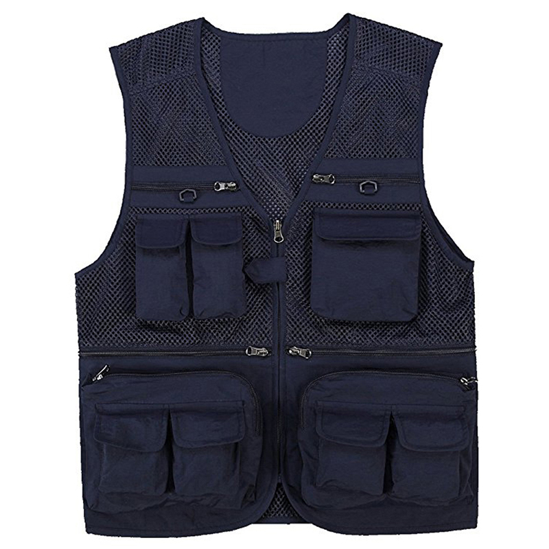 Men`s Hiking Vests Mesh Multi Pockets Photography Fishing Travel Climbing Outdoor Quick Dry Vest Breathable Waistcoat Jackets (19)