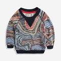 Infantil Chicos primavera suéter 2017 niños suéter del bebé del suéter de cuello redondo pequeño niños hoodies