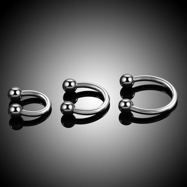 100% G23 Titanium Internally Thread Ball Horseshoe Rings Piercing Ear Tragus Eyebrow Lip Ring Nose Hoop Septum Jewelry 2