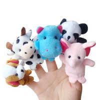 10 teile/satz Familie Finger Puppen Gefüllte Plüsch Tuch Puppe Baby Educational Hand Tier Nette Spielzeug Kinder Geburtstag Geschenke Lustige Spiele