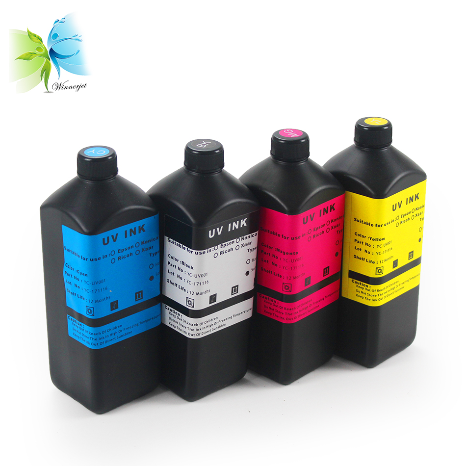 AYYBEE UV Ink 4 Colors Set for Inkjet Printers