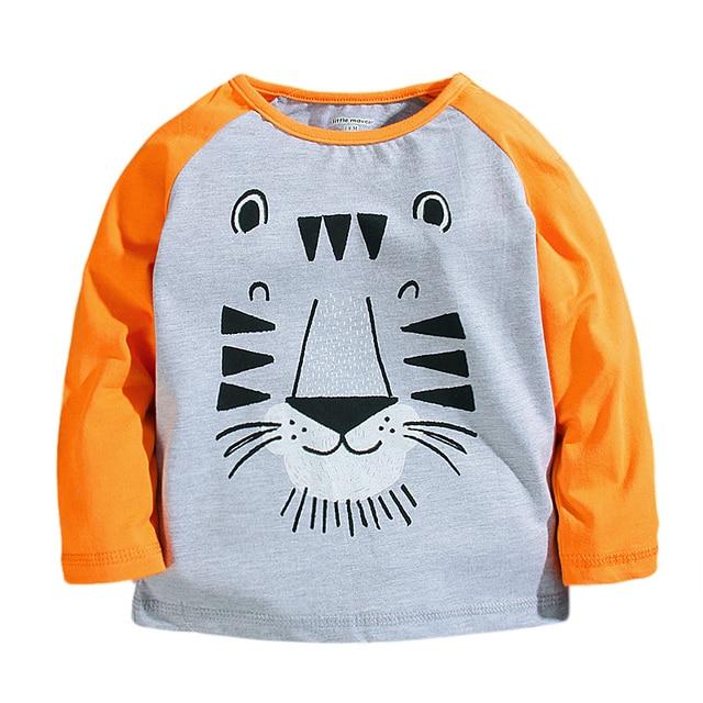 Little Maven spring cotton long sleeved jacket baby boy raglan sleeve shirt casual all-match cartoon