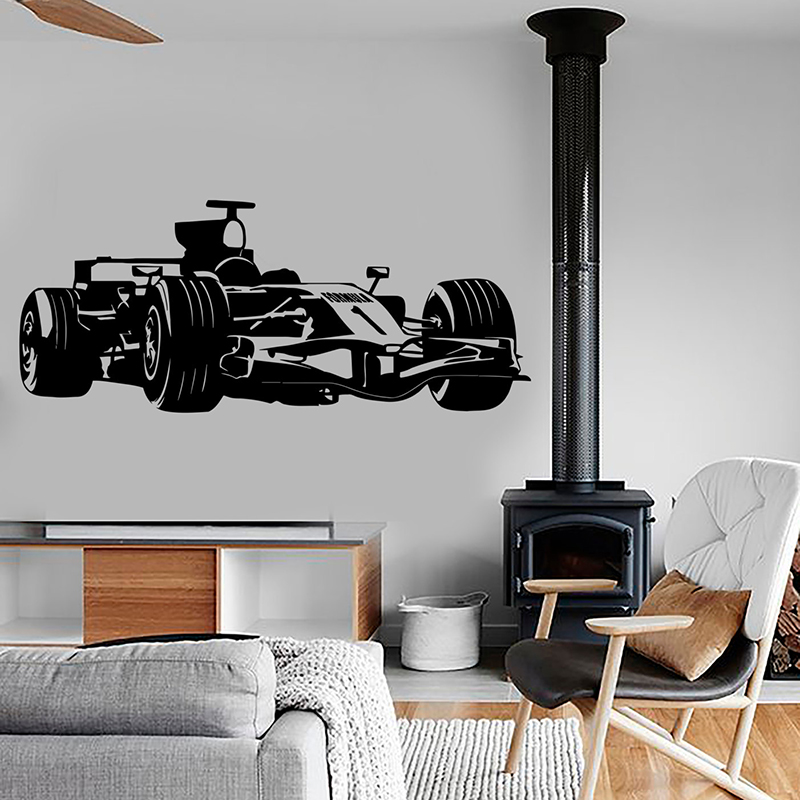 YOYOYU Racing Vinyl wall sticker Kids Room Kart Race Formula 1 Speed Removeable Decal Bedroom Decoration Art Poster ZX353 ...