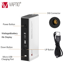 Vape Mod Electronic Cigarette Vaptio S150 Mod with 0.91inch screen 18650 Replaceable battery (not included)510 thread box TC mod special offer electronic cigarette vape mod aspire nx100 e cig box max 100w 510 thread compatible with 18650 and 26650 battery