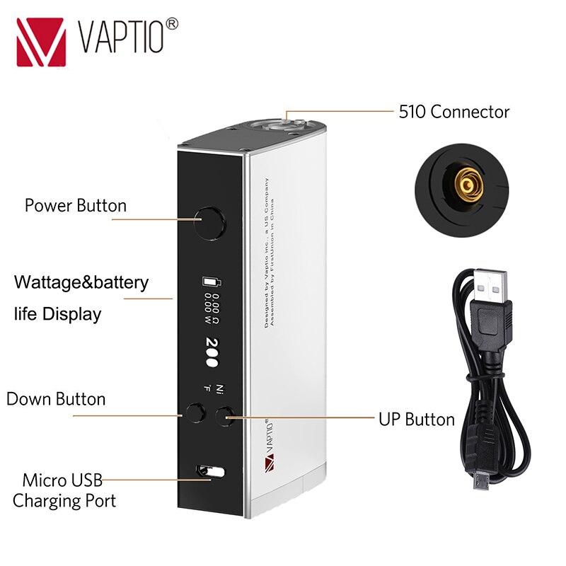 Vape Mod Cigarette électronique Vaptio S150 Mod avec 0.91 pouce écran 18650 batterie remplaçable (non incluse) 510 fil boîte TC mod