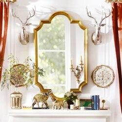 Dziwne rzędy dają domu salon w stylu europejskim  luksusowa łazienka malowidła ścienne Kaiser pkt F PU dekoracyjne lustro|Uchwyty szafek|Majsterkowanie -