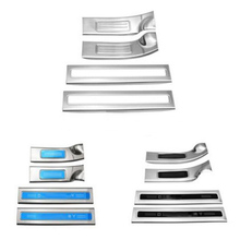 Door Threshold welcome pedal protective stuff decorative cover trim sticker for land rover discovery 5 lr5 Exterior Accessories aluminum alloy exterior door sill scuff threshold protector plate cover trim for land rover discovery 5 lr5 2017 car styling