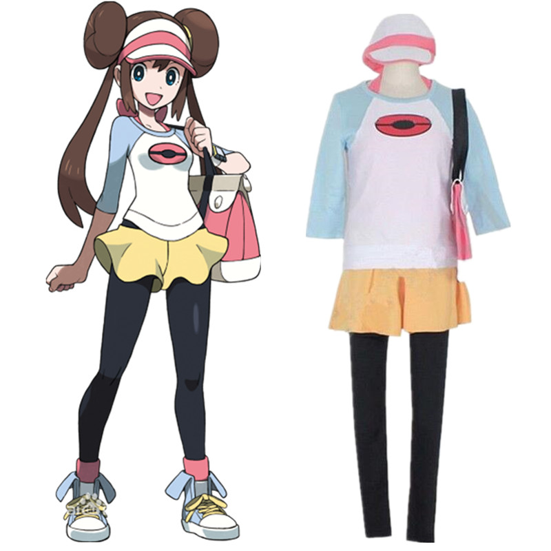 Pokemon Black 2 and White 2 Anime Japanese Cos Pokemon Pocket Monster Rosa clothes Woman Cosplay