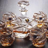 Сосуд для питья кристалл вино Стекло виски Стекло вина горшок бутылки вина золотой и серебряной проволоки