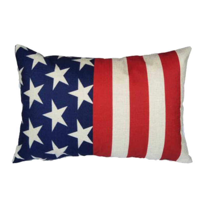 f0b021dfa03 ... Hoomall 30 50cm Rectangle Cushion Cover Linen Square Flag Printed Pillow  Cover for Parents Waist ...