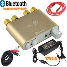 Gros Nouvelle Maison Audio Récepteur Mini Bluetooth 4.0 Numérique Amplificateur Amp HiFi 100 W TPA3116 Avec Alimentation-10000409_G