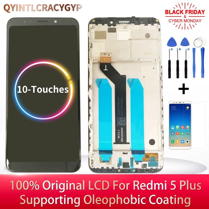 2160*1080 IPS LCD Original para Xiaomi Redmi 5 Plus pantalla LCD con marco + pantalla táctil para Redmi 5 Plus pantalla LCD pantalla