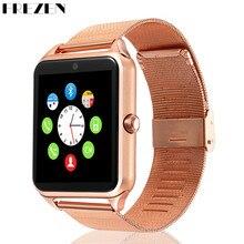 Купить с кэшбэком FREZEN Smart Watch GT08 Clock With Sim Card Slot Push Message Bluetooth Connectivity Android Phone Smartwatch GT08 PK DZ09 U8 V8