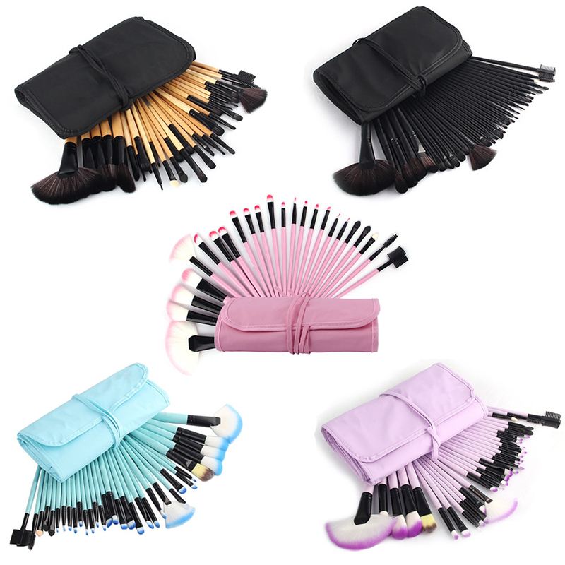 32Pcs Makeup Brushes Cosmetic Tool Kits Professional Eyeshadow Powder Eyeliner Contour Brush Set With Case Bag