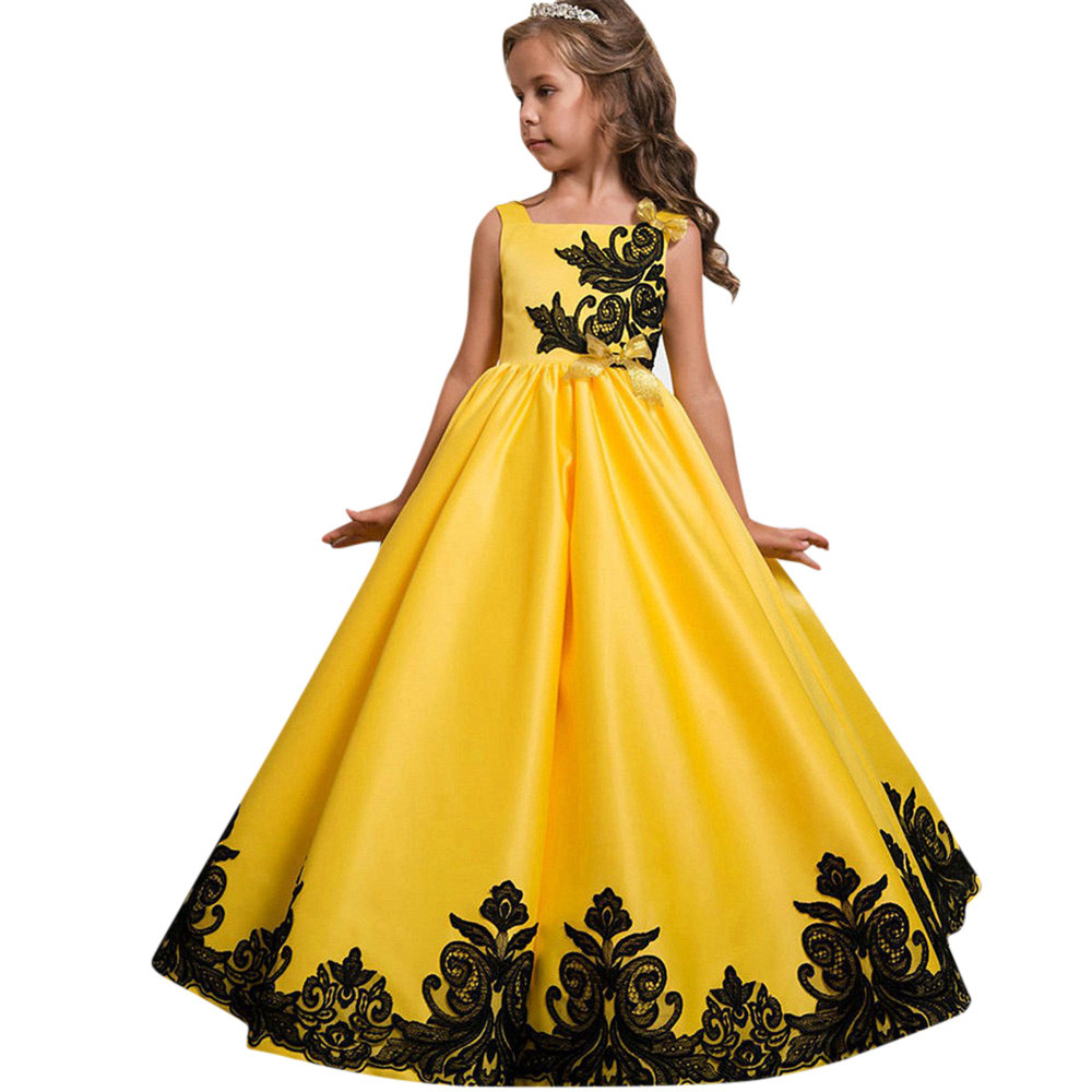 купить MUQGEW Quality Flower Girl Princess Dress Vestidos De Festa Kid Party Wedding Pageant Formal Tutu Dresses Clothes Kids Clothing дешево