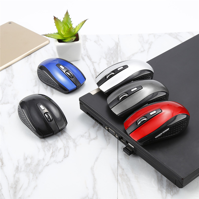 Hot Sale 1PC 2.4GHz Wireless Mouse 6 Keys USB Optical Scroll Cordless Mouse Mice For PC Tablet Laptop Computer Game Gamer Mouses