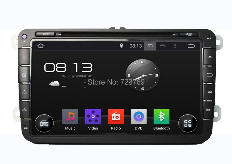 Pure Android 4.4.4 Car DVD player for Volkswagen Magotan Touran Sagitar
