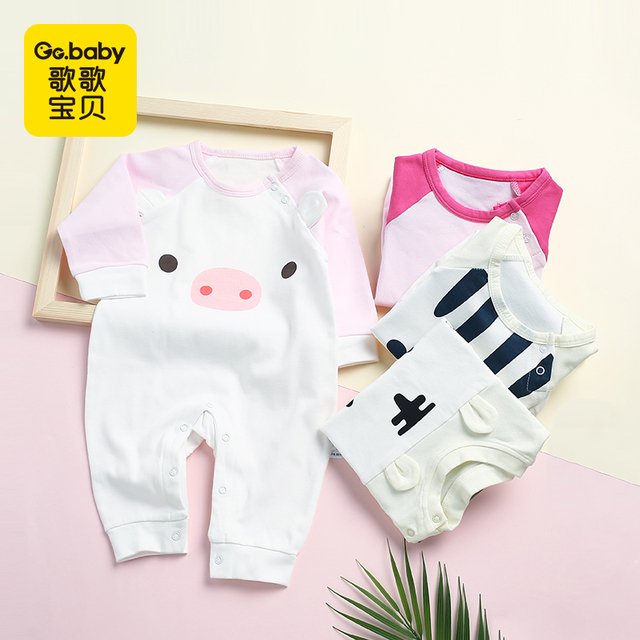 Newborn Baby Bear Romper Clothing Baby Spring Long Sleeve Pajamas Jumpsuit Clothes Baby Boy Girls Rompers Infant Girls Overalls
