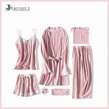 Пижама JRMISSLI Женская, пижама из хлопка, 7 шт.