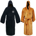 New Winter Thickening FlanneL Robe Male Autumn Casual Dressing Gown Long Star War Men's Coral Bathrobe Sleepwear Robes With Hat