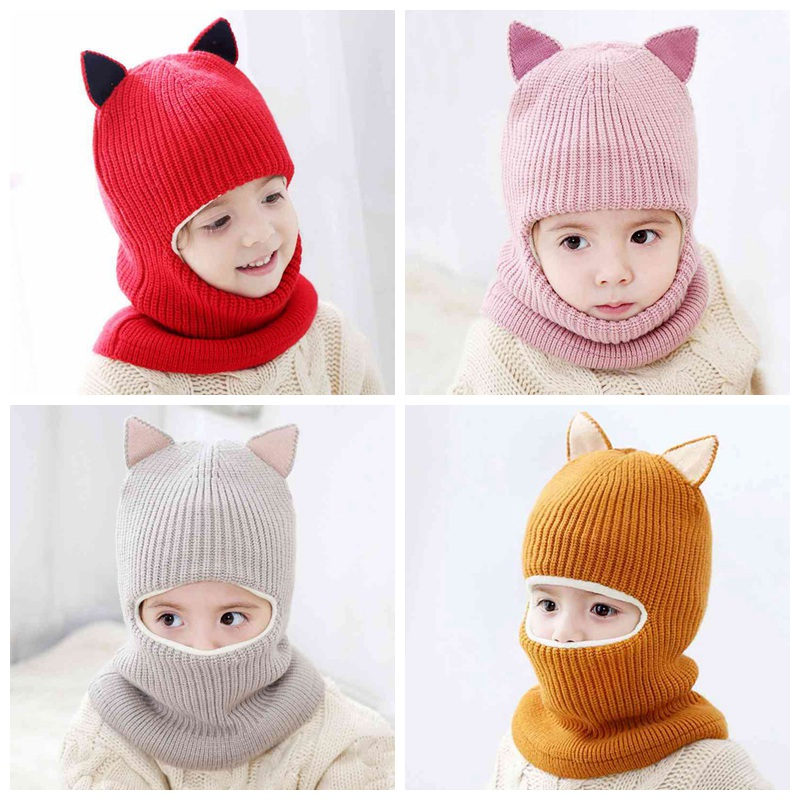 Girl's Hats Cute Baby Winter Hat Warm Child Beanie Cap Animal Cat Ear Kids Crochet Knitted Hat For Children Boys Girls Hot New Orders Are Welcome.