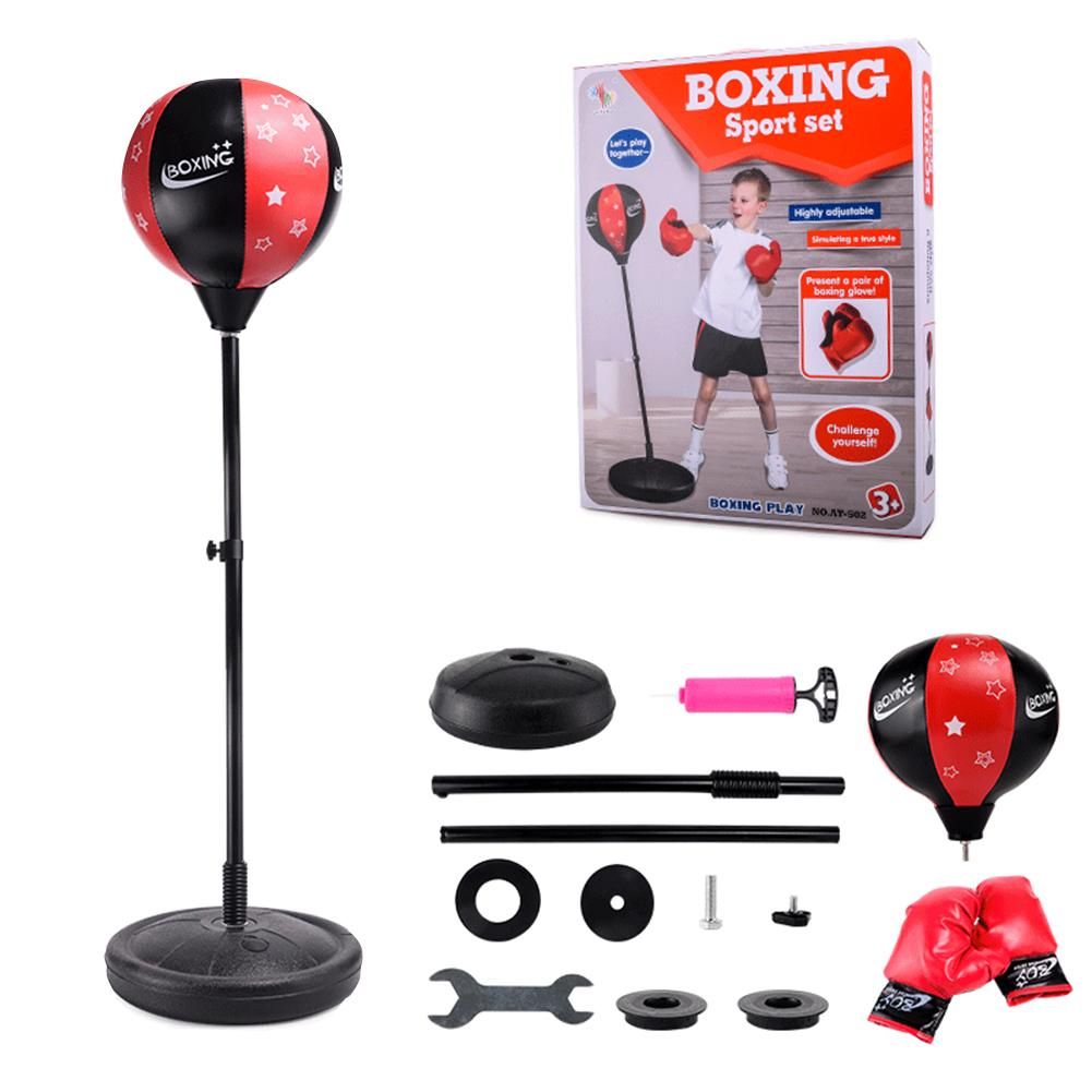 Adjustable Fitness Boxing Punch Pear Speed Ball Relaxed Boxing Punching Bag Speed Bag For Kids Children+Glove+Pump+Base+ Poles mini ip camera 960p hd network cctv hd home dome security surveillance ip ir camera network ip camera onvif h 264