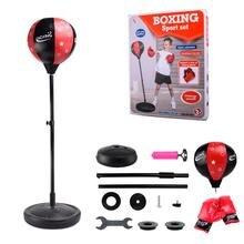 Регулируемый Фитнес боксерский удар груша скорость мяч расслабленный боксерский Пробивной мешок скорость мешок для детей + перчатки + насос + база + полюсов